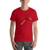 Emoji T-Shirt Store | Firecracker emoji t-shirt in Red