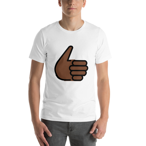 Emoji T-Shirt Store | Thumbs Up, Dark Skin Tone emoji t-shirt in White