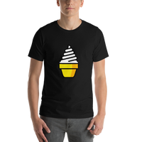 Emoji T-Shirt Store | Soft Ice Cream emoji t-shirt in Black