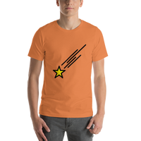 Emoji T-Shirt Store | Shooting Star emoji t-shirt in Orange