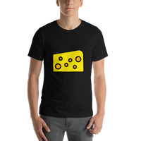 Emoji T-Shirt Store | Cheese Wedge emoji t-shirt in Black