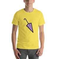 Emoji T-Shirt Store | Closed Umbrella emoji t-shirt in Yellow