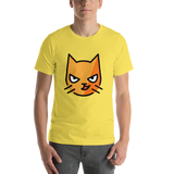 Emoji T-Shirt Store | Cat With Wry Smile emoji t-shirt in Yellow