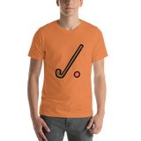 Emoji T-Shirt Store | Field Hockey emoji t-shirt in Orange