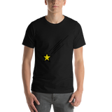 Emoji T-Shirt Store | Shooting Star emoji t-shirt in Black