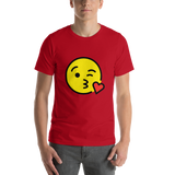 Emoji T-Shirt Store | Face Blowing A Kiss emoji t-shirt in Red
