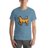 Emoji T-Shirt Store | Dog emoji t-shirt in Blue