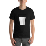 Emoji T-Shirt Store | Glass Of Milk emoji t-shirt in Black