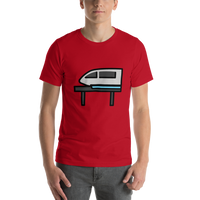 Emoji T-Shirt Store | Monorail emoji t-shirt in Red