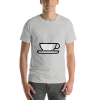 Emoji T-Shirt Store | Hot Beverage emoji t-shirt in Light gray