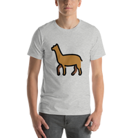 Emoji T-Shirt Store | Llama emoji t-shirt in Light gray