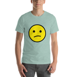 Emoji T-Shirt Store | Confused Face emoji t-shirt in Green