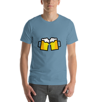 Emoji T-Shirt Store | Clinking Beer Mugs emoji t-shirt in Blue