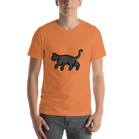 Emoji T-Shirt Store | Black Cat emoji t-shirt in Orange