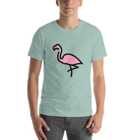 Emoji T-Shirt Store | Flamingo emoji t-shirt in Green