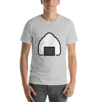 Emoji T-Shirt Store | Rice Ball emoji t-shirt in Light gray