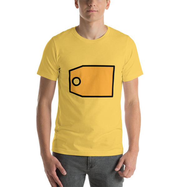 Emoji T-Shirt Store | Label emoji t-shirt in Yellow