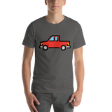 Emoji T-Shirt Store | Pickup Truck emoji t-shirt in Dark gray
