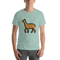 Emoji T-Shirt Store | Llama emoji t-shirt in Green