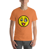Emoji T-Shirt Store | Zany Face emoji t-shirt in Orange