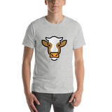 Emoji T-Shirt Store | Cow Face emoji t-shirt in Light gray