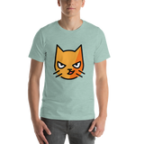 Emoji T-Shirt Store | Cat With Wry Smile emoji t-shirt in Green