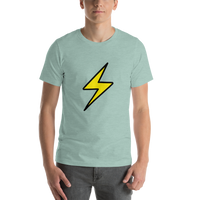 Emoji T-Shirt Store | High Voltage emoji t-shirt in Green