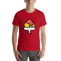 Emoji T-Shirt Store | Shaved Ice emoji t-shirt in Red
