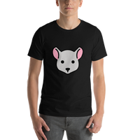 Emoji T-Shirt Store | Mouse Face emoji t-shirt in Black
