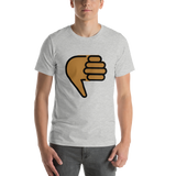 Emoji T-Shirt Store | Thumbs Down, Medium Dark Skin Tone emoji t-shirt in Light gray