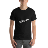 Emoji T-Shirt Store | Airplane Departure emoji t-shirt in Black