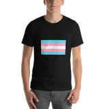 Emoji T-Shirt Store | Transgender Flag emoji t-shirt in Black