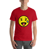 Emoji T-Shirt Store | Hot Face emoji t-shirt in Red