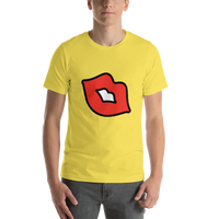 Emoji T-Shirt Store | Kiss Mark emoji t-shirt in Yellow