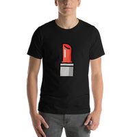 Emoji T-Shirt Store | Lipstick emoji t-shirt in Black