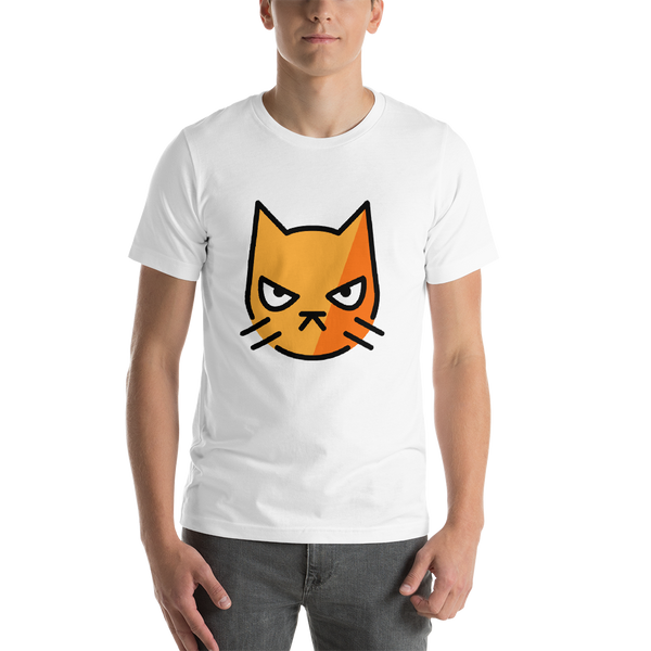 Emoji T-Shirt Store | Pouting Cat emoji t-shirt in White