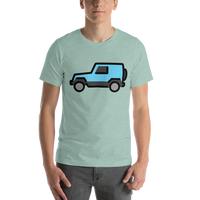 Emoji T-Shirt Store | Sport Utility Vehicle emoji t-shirt in Green