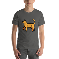 Emoji T-Shirt Store | Dog emoji t-shirt in Dark gray