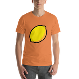 Emoji T-Shirt Store | Lemon emoji t-shirt in Orange