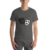 Emoji T-Shirt Store | Performing Arts emoji t-shirt in Dark gray