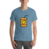 Emoji T-Shirt Store | Beverage Box emoji t-shirt in Blue