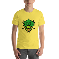 Emoji T-Shirt Store | Dragon Face emoji t-shirt in Yellow