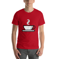 Emoji T-Shirt Store | Hot Beverage emoji t-shirt in Red