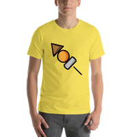 Emoji T-Shirt Store | Oden emoji t-shirt in Yellow