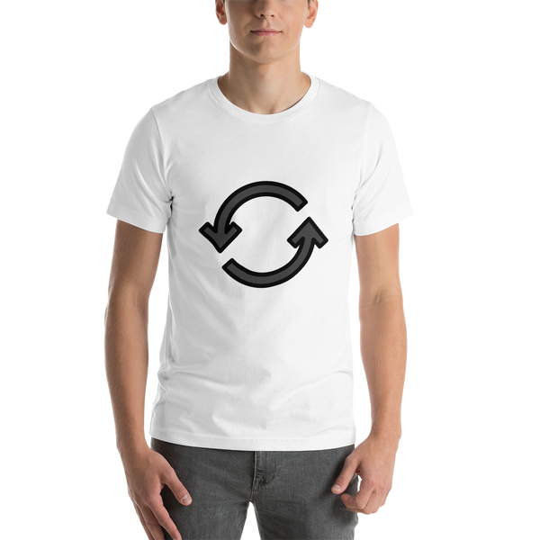 Emoji T-Shirt Store | Counterclockwise Arrows Button emoji t-shirt in White