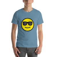 Emoji T-Shirt Store | Smiling Face With Sunglasses emoji t-shirt in Blue