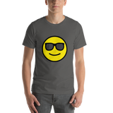 Emoji T-Shirt Store | Smiling Face With Sunglasses emoji t-shirt in Dark gray