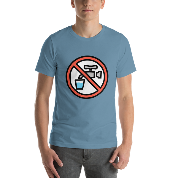 Emoji T-Shirt Store | Non-Potable Water emoji t-shirt in Blue