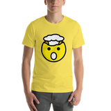 Emoji T-Shirt Store | Exploding Head emoji t-shirt in Yellow