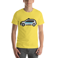 Emoji T-Shirt Store | Police Car emoji t-shirt in Yellow
